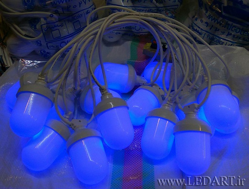 ریسه ال ای دی تک رنگ حبابی