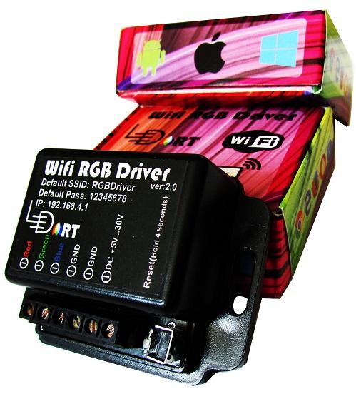 کنترلر وای فای ال ای دی RGB