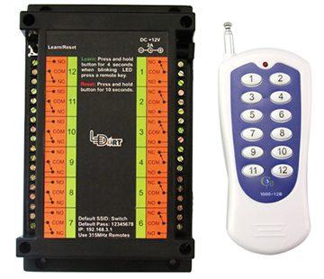 کنترلر وای فای و ریموتی رله LT-دوازده کانال