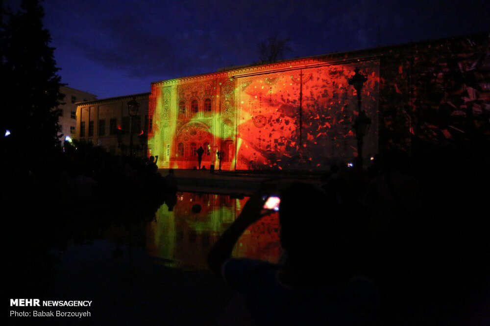 نورپردازی سه بعدی ژاپنی ها در کاخ گلستان